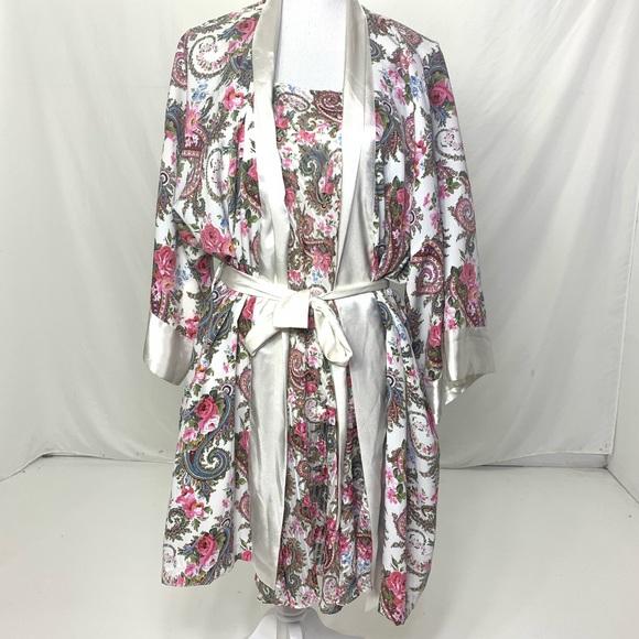 Victoria's Secret Other - Women's One Size Vintage VS Floral Robe Set